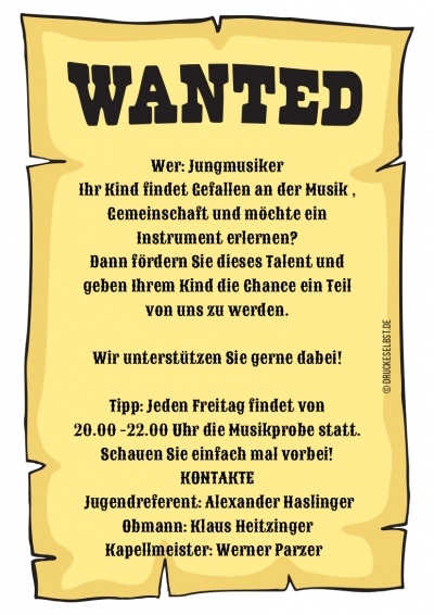 wanted jungmusiker